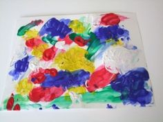 yogurt finger painting