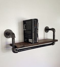 Reclaimed Wood & Pipe Book Shelf – Large by Reclaimed PA on Scoutmob Shoppe.