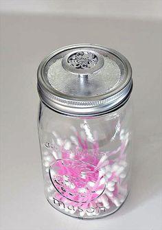 Mason jar Storage Container Tutorial | 101 Mason Jar Crafts