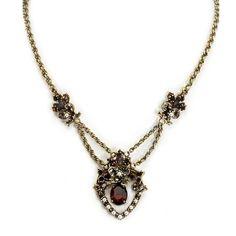 Amazon.com: Sweet Romance Garnet and Pearl Pendant Necklace: Sweet Romance Jewelry: Clothing