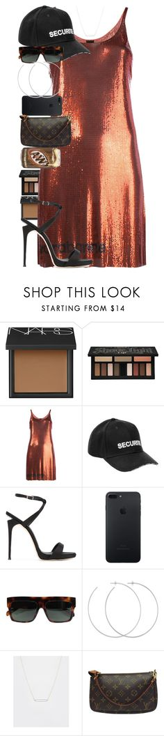 """""""When we find someone who is brave, fun, intelligent, and loving, we have to thank the universe."""" by quiche ❤ liked on Polyvore featuring NARS Cosmetics, Kat Von D, Paco Rabanne, Vetements, Giuseppe Zanotti, CÉLINE, Allison Bryan, ASOS and Louis Vuitton"""