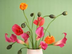 Poppies and Calla Lilies