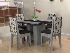 Conjunto de Mesa com 4 Cadeiras Berlim - Movale