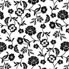 Flowers Black and White Paper Napkins £3.75
