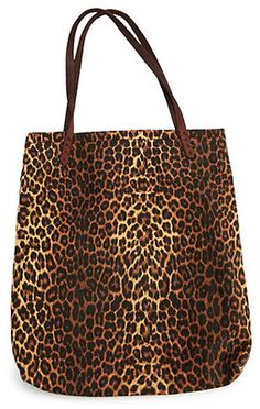 Stylish Leopard Canvas Tote