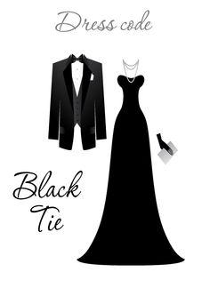 Dress code on wedding invitations dress codes wedding and weddings black tie dress code stopboris Images