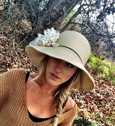 aa4be0839ad Wide Brim Floppy Sun Hat With Flower - Cloche Derby Womens Sunhat with  Hand-made