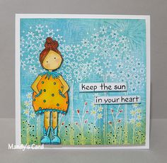 Sun in heart. Stamps from PaperArtsy.)