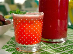 Raspberry Limeade with Lavender and Mint from CookingChannelTV.com