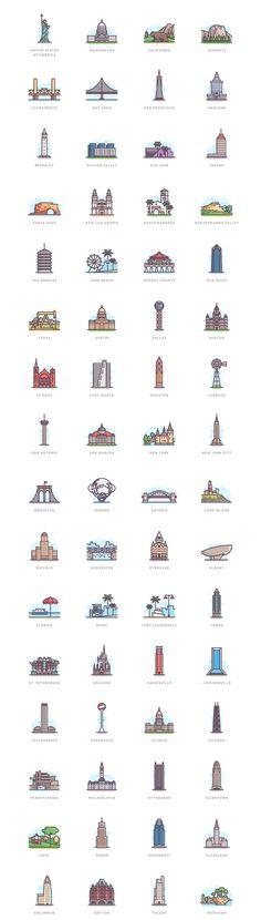 332 Landmarks on Behance