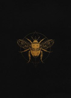 Just be love Sacred bee illustration by Cocorrina / Golden bee logo for brand identity design Wallpapers Kawaii, Spiderbite Piercings, What Is Fashion Designing, Bee Art, Brand Identity Design, Aesthetic Wallpapers, Art Inspo, Art Drawings, Tattoo Designs