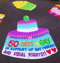 Un des gâteaux du projet 50 cakes of gay. (Crédit Image : Kashink)