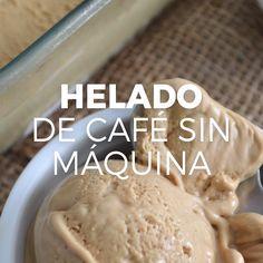 Helado de café sin máquina Para este helado o nieve de café solo necesitan 4 ingredientes. Köstliche Desserts, Delicious Desserts, Dessert Recipes, Yummy Food, Tasty Videos, Food Videos, Food Porn, Deli Food, Food Menu