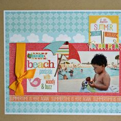 Poolside with Woody & Buzz (My Creative Scrapbook)