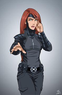 Jean Grey (uniform) commission by phil-cho.deviantart.com on @DeviantArt
