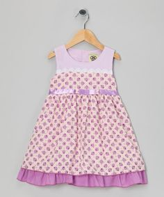 Take a look at this Purple Polka Dot Dress - Infant, Toddler & Girls by Tutu AND Lulu on #zulily today!