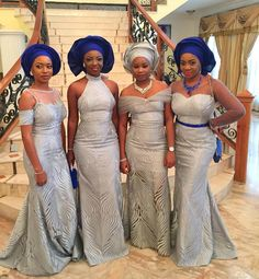 Coco and Caleb are having their traditional wedding today! Coco's brother, Davido, shares some gorgeous moments from the traditional wedding. The wedding color scheme of the couple are Blue, Silver… African Wedding Attire, African Attire, African Weddings, African Outfits, African Clothes, African Wear, African Dresses For Women, African Women, African Lace