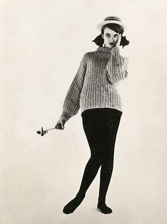 The very first fashion portrait of Grace Coddington, for her modeling card, England, United Kingdom, 1959, photograph by Anthony Armstrong-Jones (later Lord Snowdon).