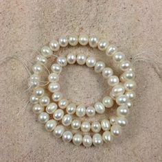 Natural White Freshwater Potato Pearls 16 inch by marketplace beads Awesome bead shop!  www.marketplacebeads.etsy.com