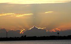 October 18, 2012 - Sunset on Eau Gallie Causeway - Indian Harbour Beach, Florida