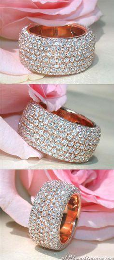 Huge Diamond Eternity Ring, 5,62 cts. g-vsi/vvsi RG-18K - Find out: schmucktraeume.com - Like: https://www.facebook.com/pages/Noble-Juwelen/150871984924926 - Contact: info@schmucktraeume.com