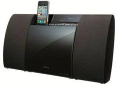 Sony Slim Digital Radio, iPod/iPhone Micro Hi-Fi System Sony, Ipod Dock, Hi Fi System, Shelf System, Digital Radio, Cool Electronics, Music System, Discos, Tecnologia