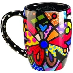 Romero Britto Round Butterfly Mug Cup Coffee Drink Tea Ceramic Giftcraft Decor *** Visit the image link more details. (This is an affiliate link) Coffee Drinks, Coffee Mugs, Mug Cup, Drinking Tea, Drinkware, Porcelain, Butterfly, Ceramics, Tableware