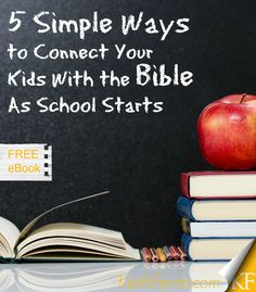 The start of school is always hectic. Here are some simple ideas for making sure the Bible doesn't get lost in the craziness.
