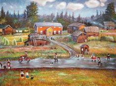 heinät on jo seipäillä! Finland, Fine Art, Painting, Eggs, Painting Art, Paintings, Visual Arts, Painted Canvas, Drawings