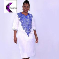 Page Ladies Embroidered Dress African clothes African by PageUk