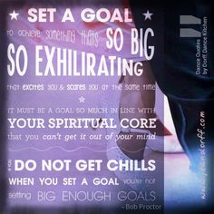 Have you set a (dance goal)?