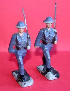 """Figuras Composición: """"Soldados Ingleses"""" de Lineol"""