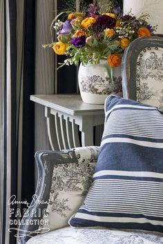 Annie Sloan Fabrics Paris Noir