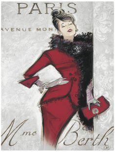 Paris Style Femme Impressão artística