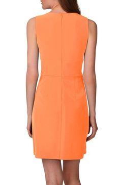 Main Image - Donna Morgan Tulip Hem Sleeveless Crepe Dress (Regular & Petite)
