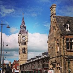 Our town #darlington #townclock #blueskies #northeast #northernpride