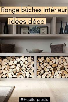 Interior log range: our original decor ideas - Rodney Grimestone Basement Remodel Diy, Basement Remodeling, Tv Decor, Home Decor, Deco Originale, Logs, Diy Hacks, Firewood, Entryway Tables