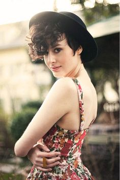 Lovely Pixie cut with Long Curly Bangs this is what i want