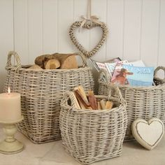 3 deep willow baskets | Bliss and Bloom Ltd