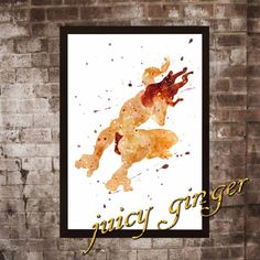 Tarzan art print Tarzan disney watercolor poster by juicyginger