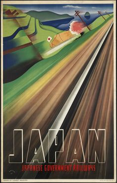 "Japan 新幹線!? Saw this poster at the Japan Society ""Art Deco"" exhibit...very cool."