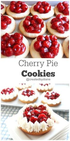 Cherry Pie Cookies | Created by Diane