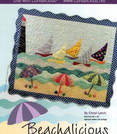 Beachalicious Quilt Pattern by SewingWithSilk on Etsy Patchwork Quilt Patterns, Mug Rug Patterns, Patchwork Bags, Applique Quilts, Creeper Minecraft, Embroidery Designs, Quilting Designs, Small Quilts, Mini Quilts