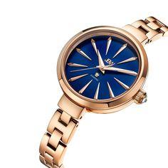 8a50eb5080e ساعة جي بي دبليو باللون الذهبي الوردي - ساعات جي بي دبليو Harir Mode De Vie