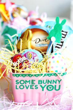"DIY ""Some Bunny Loves You"" Easter Baskets"