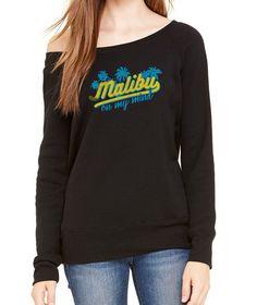 Women's Malibu On My Mind Scoop Neck Fleece - Juniors Fit
