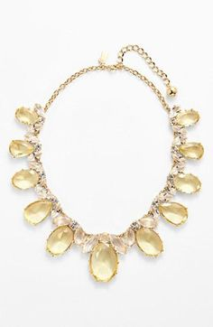 Fit for a princess! Adoring this pretty stone statement necklace by Kate Spade.