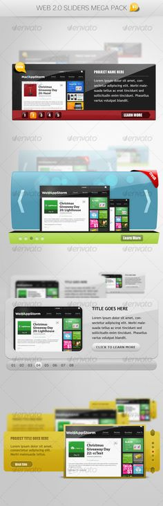 Web 2.0 Sliders Mega Pack V2