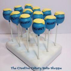 Winnie the Pooh Hunny Pot Cake Pops by The Creative Cakery Bake Shoppe
