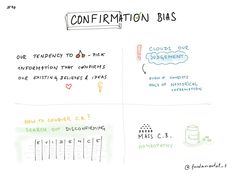 """CONFIRMATION BIAS""""What the human being is best at doing is interpreting all new information so that their prior conclusions remain intact.""""— Warren Buffett""""Failing to interpret information in an unbiased way can lead to serious misjudgments. By understanding this, we can learn to identify it in ourselves and others. We can be cautious of data that seems to immediately support our views.""""More about this fundamental cognitive bias can be foun…"""